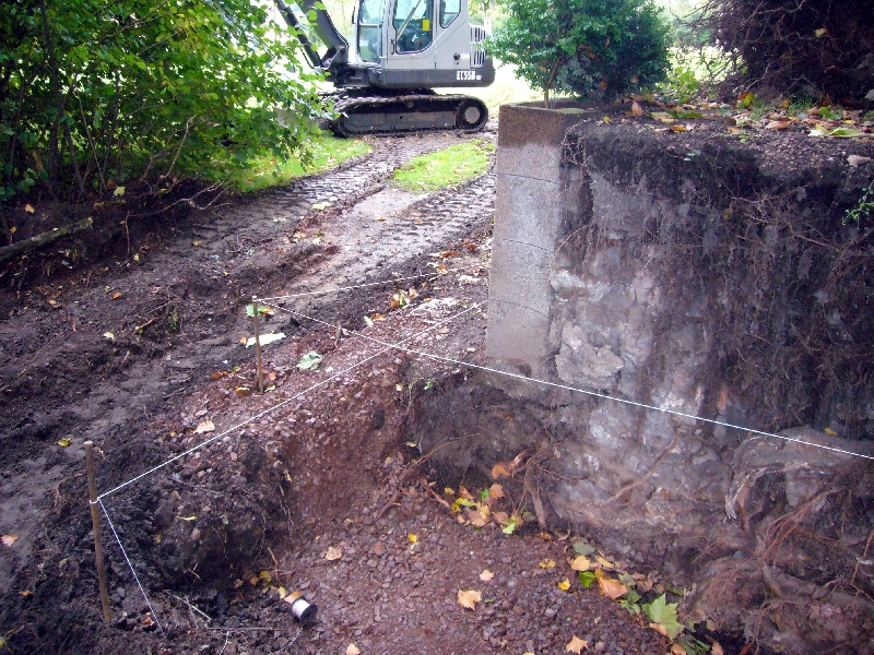 Erneuerung der Stützmauern
