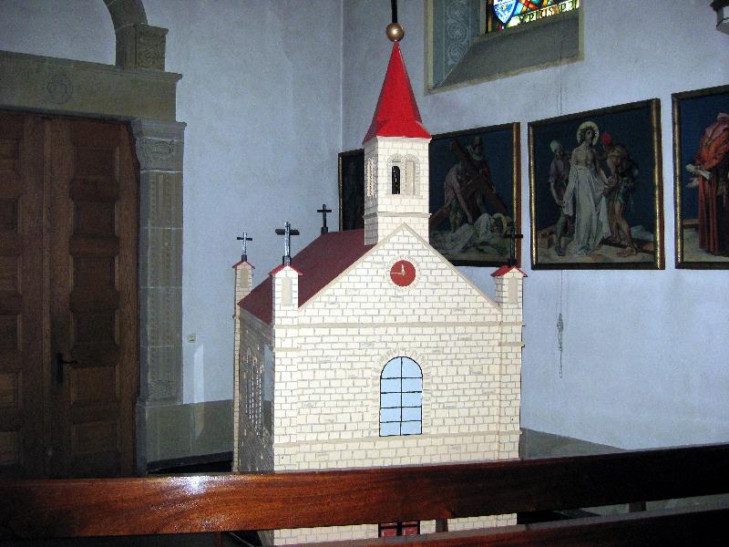 Modell der ersten Kirche